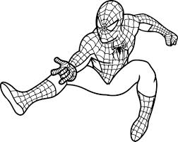 coloring pages spider man aecost net aecost net