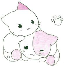 kitten and puppy coloring pages coloring pages how to draw cute cats cartoon easy and kittens
