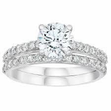 Cubic Zirconia Wedding Rings by Cubic Zirconia Wedding Ring Sets Of Premium Gold And Silver
