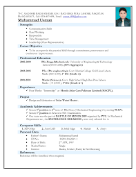 Latest Resume Samples For Experienced by Latest Resume Format For Experienced Mechanical Engineer It