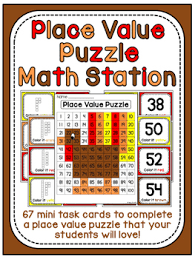 thanksgiving math center place value 100 chart puzzle by miss giraffe