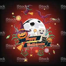 transparent halloween background halloween background flat halloween element and charactor