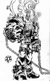 ghost rider coloring pages ghost rider by doarted on deviantart