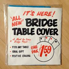card game table cloth vintage bridge card game table cover new in package bridge card