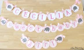 baby shower banners baby girl elephant baby shower on a budget decor and desserts