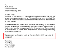 Kindergarten Cancellation Letter how to write an event cancellation email newoldst