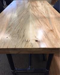 custom ambrosia maple slab tabletop reclaimed salvaged maple zoom