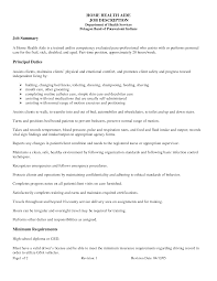 sample resume of a nursing aide certified assistant home health