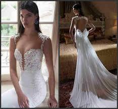 wedding dress open back vintage lace mermaid wedding dresses open back berta style white