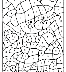 numbers coloring pages kindergarten color by numbers pages children printable color by number pages in