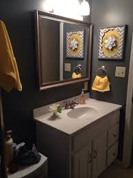 Grey And Yellow Bathroom Ideas Gray And Yellow Bathroom Ideas Lights Decoration