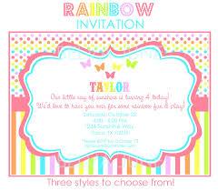 sunshine invitation diy printable rainbow invitations