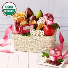 organic fruit basket organic pink fruit basket foodgiftsdelivered