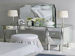 bedrooms narrow makeup vanity table with storage under gl top