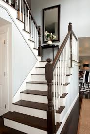 Banister Stair Stair Banister Staircase Traditional With Dark Wood Floor Dark