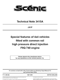 technical note 3415a fuel injection diesel engine