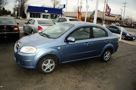 2007 chevrolet aveo ls 4dr blue sedan sale