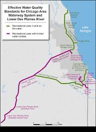 map of calumet michigan chicago area waterway system chicago river epa in illinois