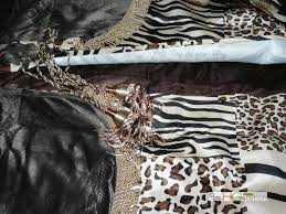 Cheetah Sheer Curtains by Hg Station 4 Pc Micro Faux Fur Zebra Tiger Leopard Jaguar Cheetah