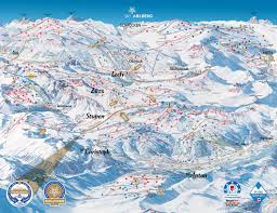 Colorado Ski Map by St Anton Piste Map Trail Map