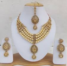 fashion jewelry necklace set images Indian bollywood kundan pearl bridal fashion jewelry necklace jpg