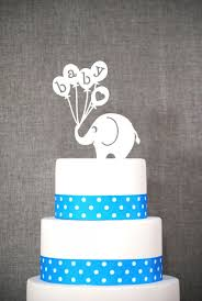 baby elephant cake topper fun baby shower topper classic baby