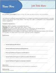 Best Resume Format For Fresher Software Engineers by Sample Resume Format For Experienced Software Engineer