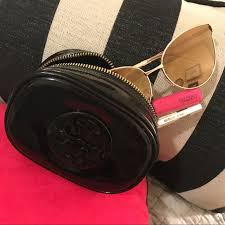 tory burch black patent leather bag nail polish stain black