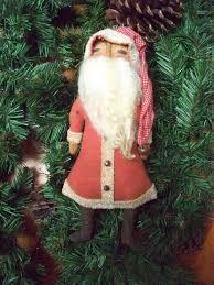 primitive kris kringle santa ornament doll last one in