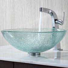 Glass Bathroom Sinks And Vanities Bathroom Lovely Crafted Glass Bathroom Sink Design Ideas Glass