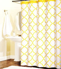 White And Yellow Curtains Buy 100 Percent Cotton Shower Curtain Moroccan Tile Quatrefoil