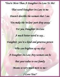 daughter in law poems son daughter in law personalized poem