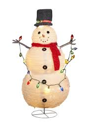Lighted Snowman Outdoor Decoration by 48