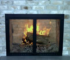 glass doors fireplace pleasant hearth fenwick large glass
