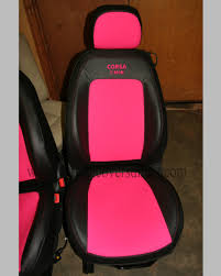 vauxhall pink opel corsa seat covers corsa c custom tailored car seat covers