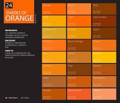 shades of orange names 24 shades of orange color palette graf1x com