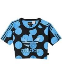 adidas crop top sweater bargains on womens adidas originals dear baes crop t shirt black