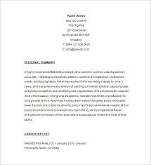 marketing analyst resume template u2013 16 free samples examples
