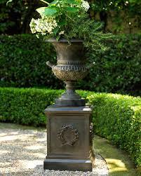 neiman marcus classic urn planter u0026 laurel wreath pedestal