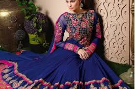 Colour Combination With Blue Color Combination With Blue Suitanarkali In