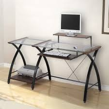 Glass L Shaped Desk Z Line Belaire Glass L Shaped Computer Desk Dimensions