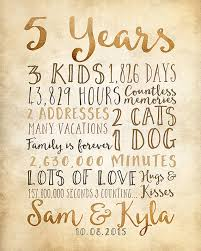 7th year wedding anniversary 5th anniversary 5 year anniversary gifts rustic by wanderingfables