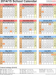 calendars 2014 2015 as free printable excel templates