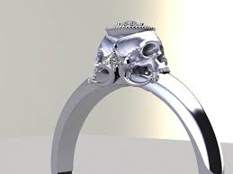 skull wedding ring sets charming new wedding rings