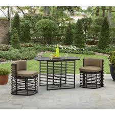 Outdoor Furniture For Small Spaces by Better Homes And Gardens Murray Hill 3 Piece Small Space Aluminum