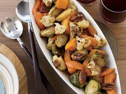 maple ginger roasted vegetables with pecans recipe melissa rubel