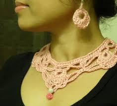 crochet necklace images Part 1 how to crochet necklace and earring jpg