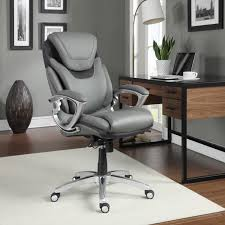 serta air health u0026 wellness leather executive office chair light