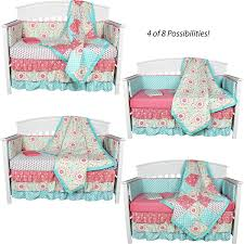 Paisley Crib Bedding by Amazon Com Gia Floral Coral Blue 8 In 1 Baby Crib Bedding