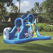 Backyard Bounce Inflatable Water Slide Park Backyard Bounce House Pool Outdoor Fun